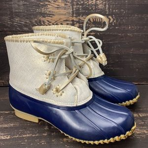 Jack Rogers Chloe Duck Boots Size 8